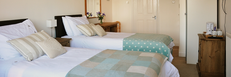 The Marden bedroom at The Old Granary, Alnmouth