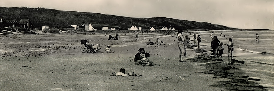 The Glorious '40s: beach huts, tents and family fun