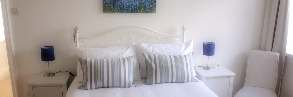 The Seaton bedroom at The Old Granary, Alnmouth